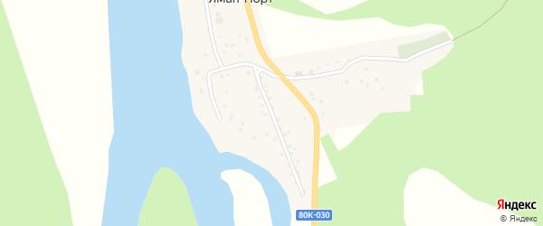 Садовая улица на карте деревни Ямана-Порта с номерами домов