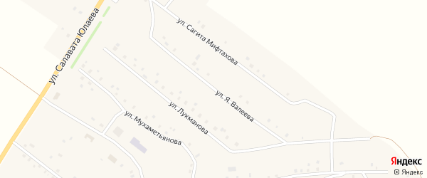 Улица Сагита Мифтахова на карте села Новокулево с номерами домов