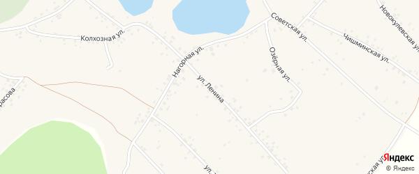 Улица Ленина на карте села Новокулево с номерами домов