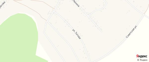 Улица Титова на карте села Новокулево с номерами домов