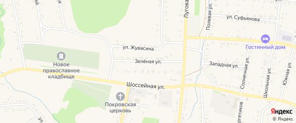 Зеленая улица на карте села Мраково с номерами домов