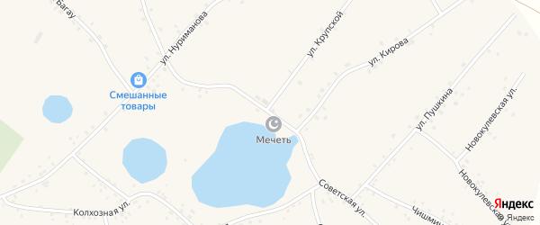 Советская улица на карте села Новокулево с номерами домов