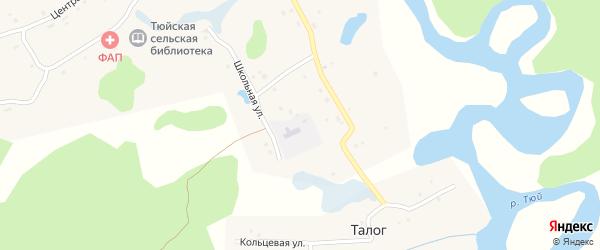 Кольцевая улица на карте деревни Талога с номерами домов