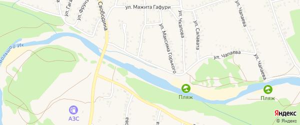 Улица М.Горького на карте села Мраково с номерами домов