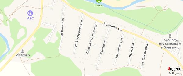 Улица Бикмухаметова на карте села Мраково с номерами домов