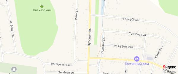 Луговая улица на карте села Мраково с номерами домов