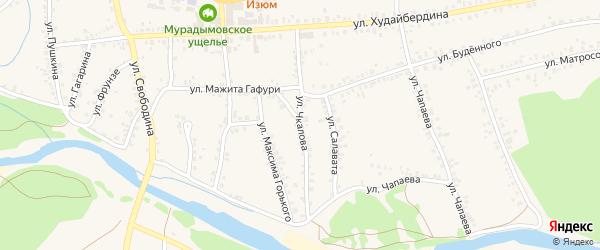 Улица Чкалова на карте села Мраково с номерами домов