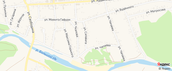 Улица Салавата на карте села Мраково с номерами домов
