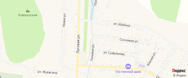 Полевая улица на карте села Мраково с номерами домов