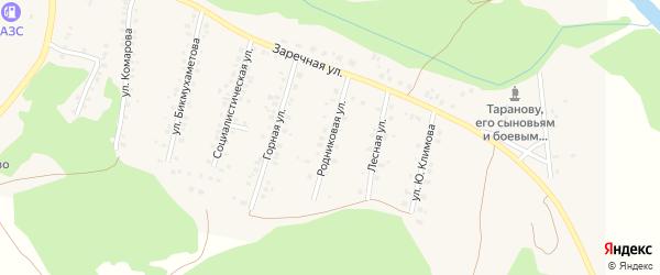 Родниковая улица на карте села Мраково с номерами домов