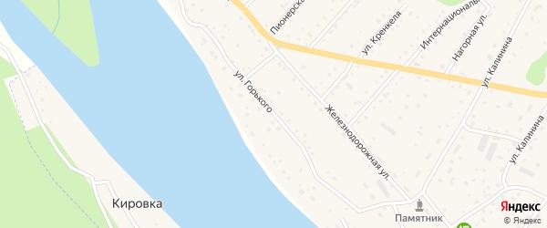 Улица Горького на карте села Красного Ключа с номерами домов
