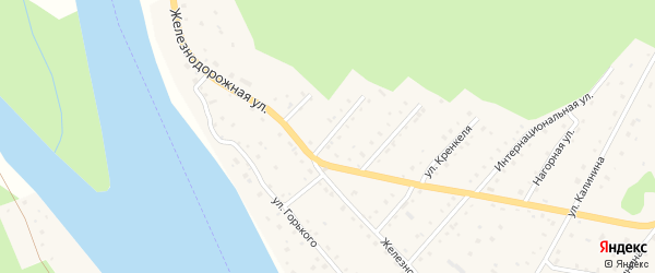 Пионерская улица на карте села Красного Ключа с номерами домов