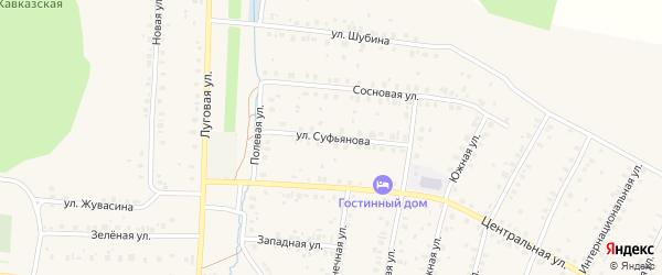Улица Суфьянова на карте села Мраково с номерами домов