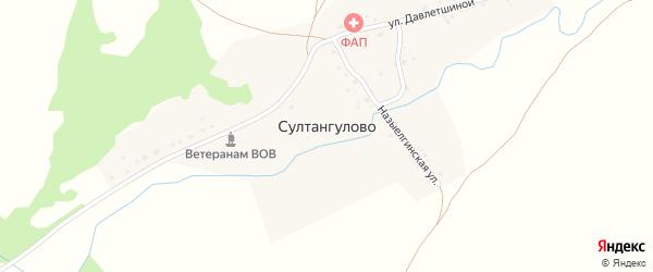 Улица Х.Давлетшиной на карте деревни Султангулово с номерами домов