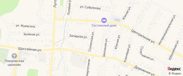 Солнечная улица на карте села Мраково с номерами домов