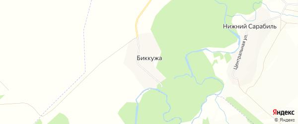 Карта деревни Биккужи в Башкортостане с улицами и номерами домов