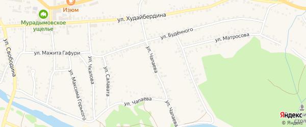 Улица Чапаева на карте села Мраково с номерами домов