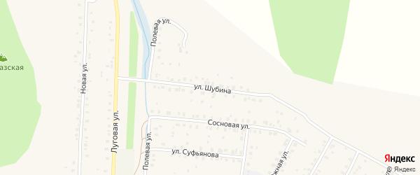 Улица Шубина на карте села Мраково с номерами домов