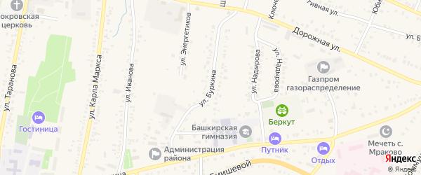 Улица Буркина на карте села Мраково с номерами домов