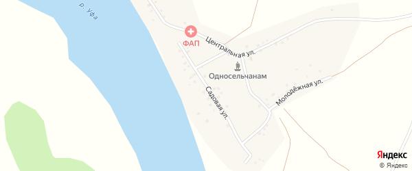 Садовая улица на карте деревни Новобирючево с номерами домов