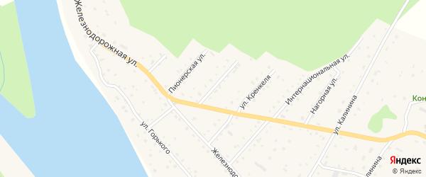 Комсомольская улица на карте села Красного Ключа с номерами домов