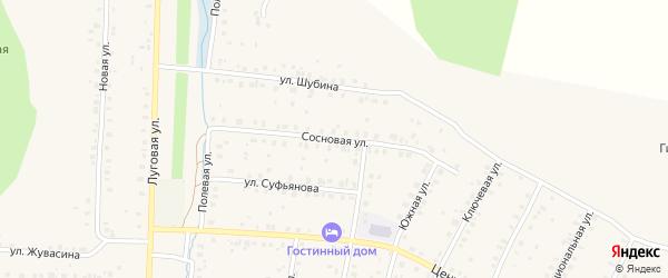 Сосновая улица на карте села Мраково с номерами домов