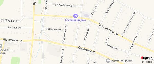Школьная улица на карте села Мраково с номерами домов