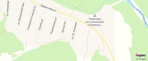 Улица Ю.Климова на карте села Мраково с номерами домов