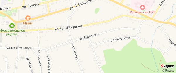 Улица Буденного на карте села Мраково с номерами домов