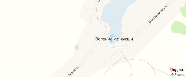 Западная улица на карте деревни Верхние Ирныкши с номерами домов