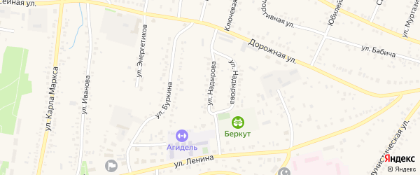Улица Надырова на карте села Мраково с номерами домов
