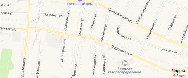 Дорожная улица на карте села Мраково с номерами домов