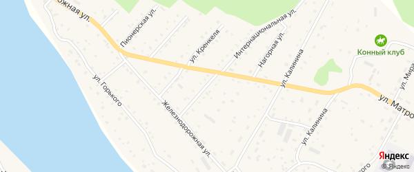 Улица Кренкеля на карте села Красного Ключа с номерами домов