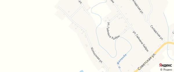 Колхозная улица на карте села Старокулево с номерами домов