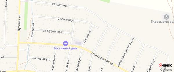 Южная улица на карте села Мраково с номерами домов