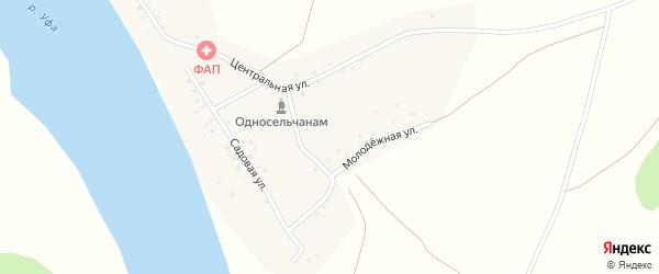 Родниковая улица на карте деревни Новобирючево с номерами домов