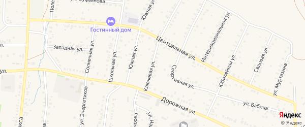 Ключевая улица на карте села Мраково с номерами домов