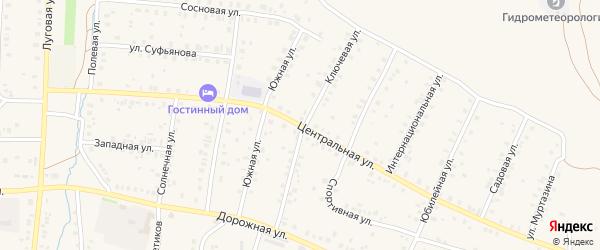 Центральная улица на карте села Мраково с номерами домов