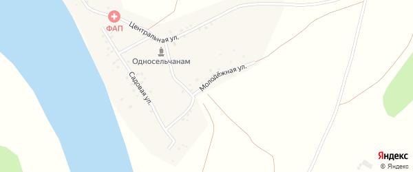 Молодежная улица на карте деревни Новобирючево с номерами домов