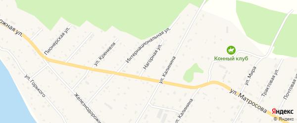 Нагорная улица на карте села Красного Ключа с номерами домов