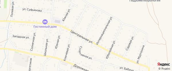Спортивная улица на карте села Мраково с номерами домов