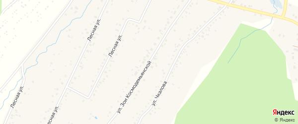 Улица Космодемьянской на карте села Тавтиманово с номерами домов