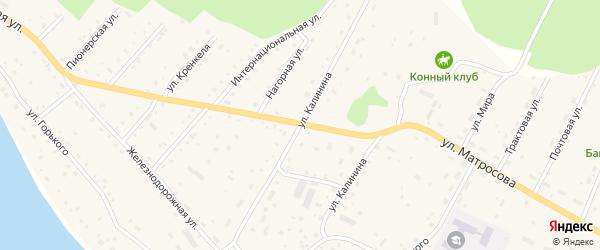 Улица Калинина на карте села Красного Ключа с номерами домов