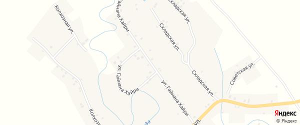 Улица Гайнана Хайри на карте села Старокулево с номерами домов