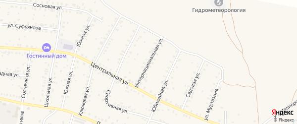 Интернациональная улица на карте села Мраково с номерами домов