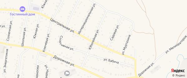 Юбилейная улица на карте села Мраково с номерами домов