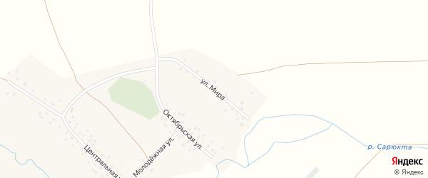 Октябрьская улица на карте деревни Усманово с номерами домов