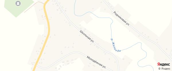 Школьная улица на карте села Старокулево с номерами домов