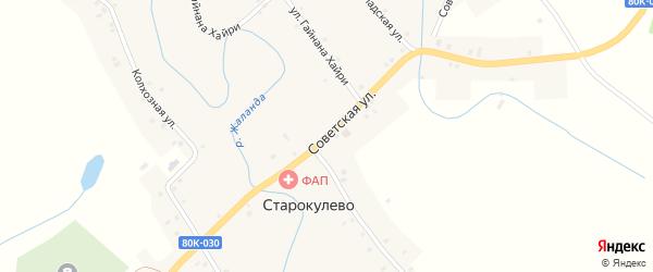 Советская улица на карте села Старокулево с номерами домов