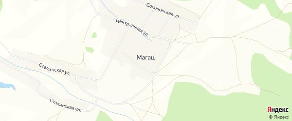Карта деревни Магаша в Башкортостане с улицами и номерами домов
